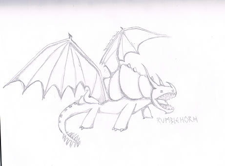 Image  My Drawing of a Rumblehornpng  How to Train Your Dragon