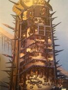The art of httyd 2 battle tower by hiccupandtoothless22-d7ay33j