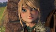 Astrid having heard Hiccup's response