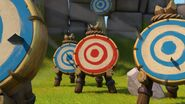 Hitting all the targets except the red one