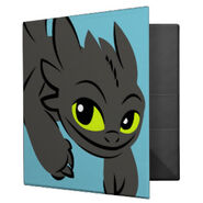 Toothless Illustration 01 3 Ring Binder