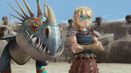 Astrid as she is starting the flashback