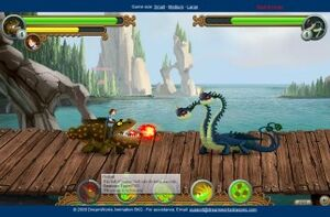 Gronckle Zippleback Battle Dragon Training Academy