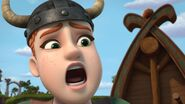 A villager screaming