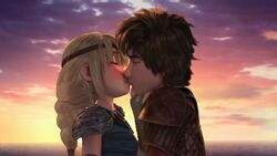 Hiccup and Astrid kissing Mi Amore 4