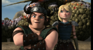 Out of the frying pan scene, Astrid and snotlout 2