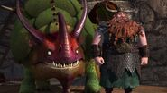 Stoick and his new dragon Skullcrusher