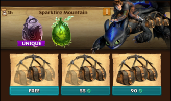Sparkfire Mountain (Toothless' Rival)