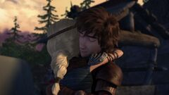 Hiccup and Astrid hugging 2 - season 5