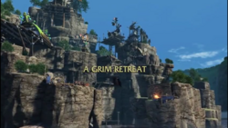 A Grim Retreat title card