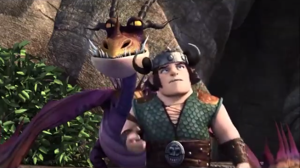 Image girl hookfang and snotloutg how to train your dragon filegirl hookfang and snotloutg ccuart Images