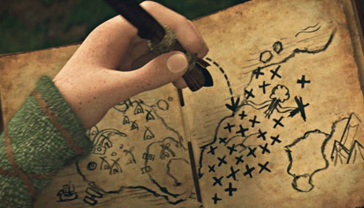 Hiccups journal how to train your dragon wiki fandom powered by the map in his journal in the first film ccuart Image collections