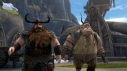 Stoick and Gobber seeing what is happening to Snotlout