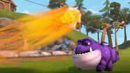 A fireball going by as Burple is about to sneeze again