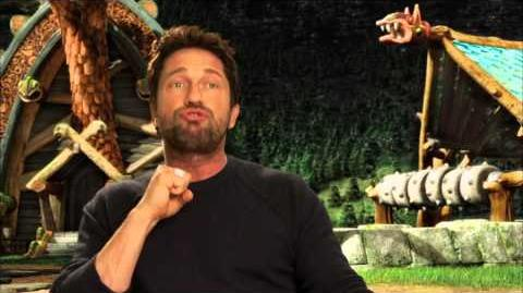 """How To Train Your Dragon 2 GERARD BUTLER """"Stoick"""" On Set Movie Interview"""