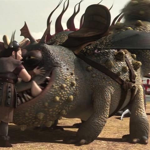 Phlegma con su dragón al final de la segunda película