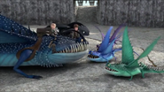 Bing, Bam, Boom, Thornado, Hiccup, Toothless and Astrid