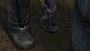 The prosthetic leg in Saving Shattermaster