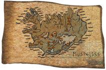 Islandia en el mapa