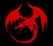 Logo Berserker rojo sobre negro