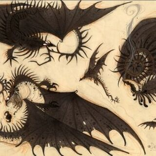 Arte conceptual del Skrill en que pueden haberse basado para la creación del Brillo Mortal