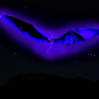 Bioluminiscencia del Brillo Mortal, en plena oscuridad es capaz de cegar momentáneamente a sus enemigos o por lo menos molestarles la vista