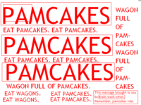 Pamcakes will NEVER hurt you