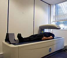 File:DEXA scanner in use ALSPAC.jpg