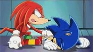 Knuckles told Sonic if he was okay