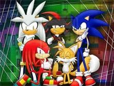 Sonic, Shadow, Knuckles, Tails and Silver