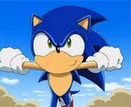 Sonic run happily