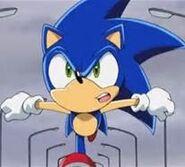 Sonic was running