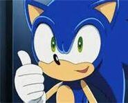 Sonic thumb up