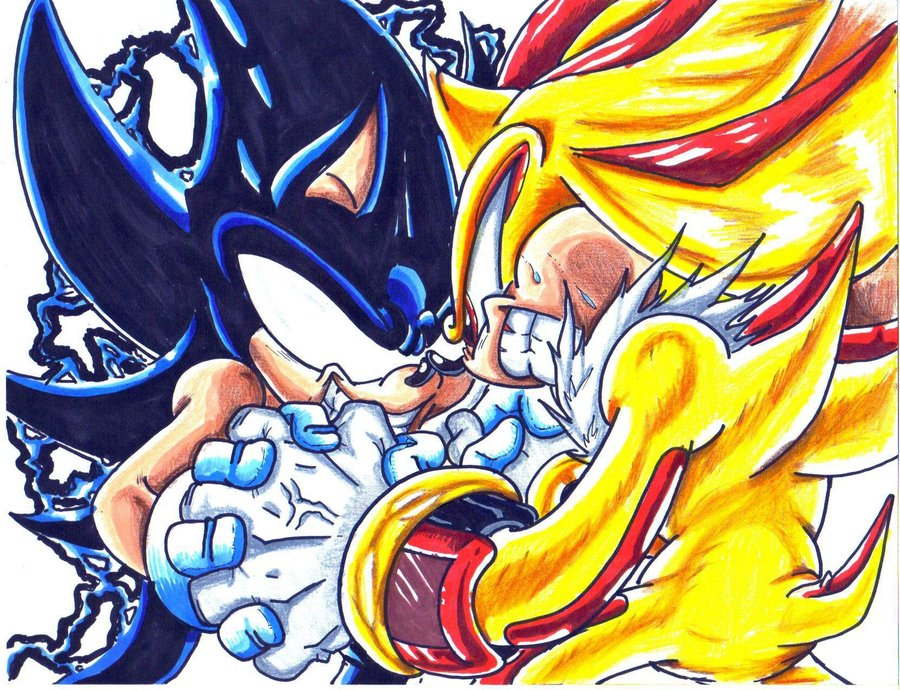 Dark Sonic Vs Super Shadow Cld By Trunks24 D34io4a
