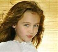 Miley as a little girl