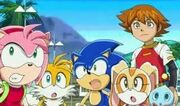 The guys from Sonic X are surprise