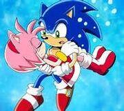 Sonic held Amy