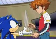 Sonic give Chris the ring of Shadow's