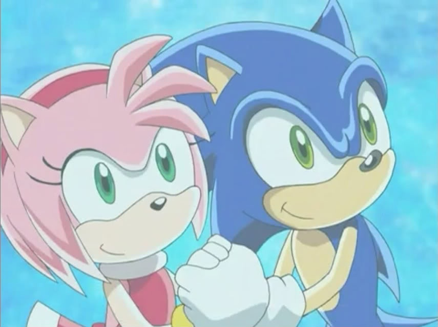sonic and amy as troy and gabriella are singing together