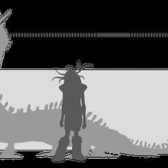 <i><b>Сравнение размеров Кошмарного Пристеголова (<a href=