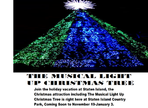 Staten Island Musical Light Up Christmas Tree Country Park