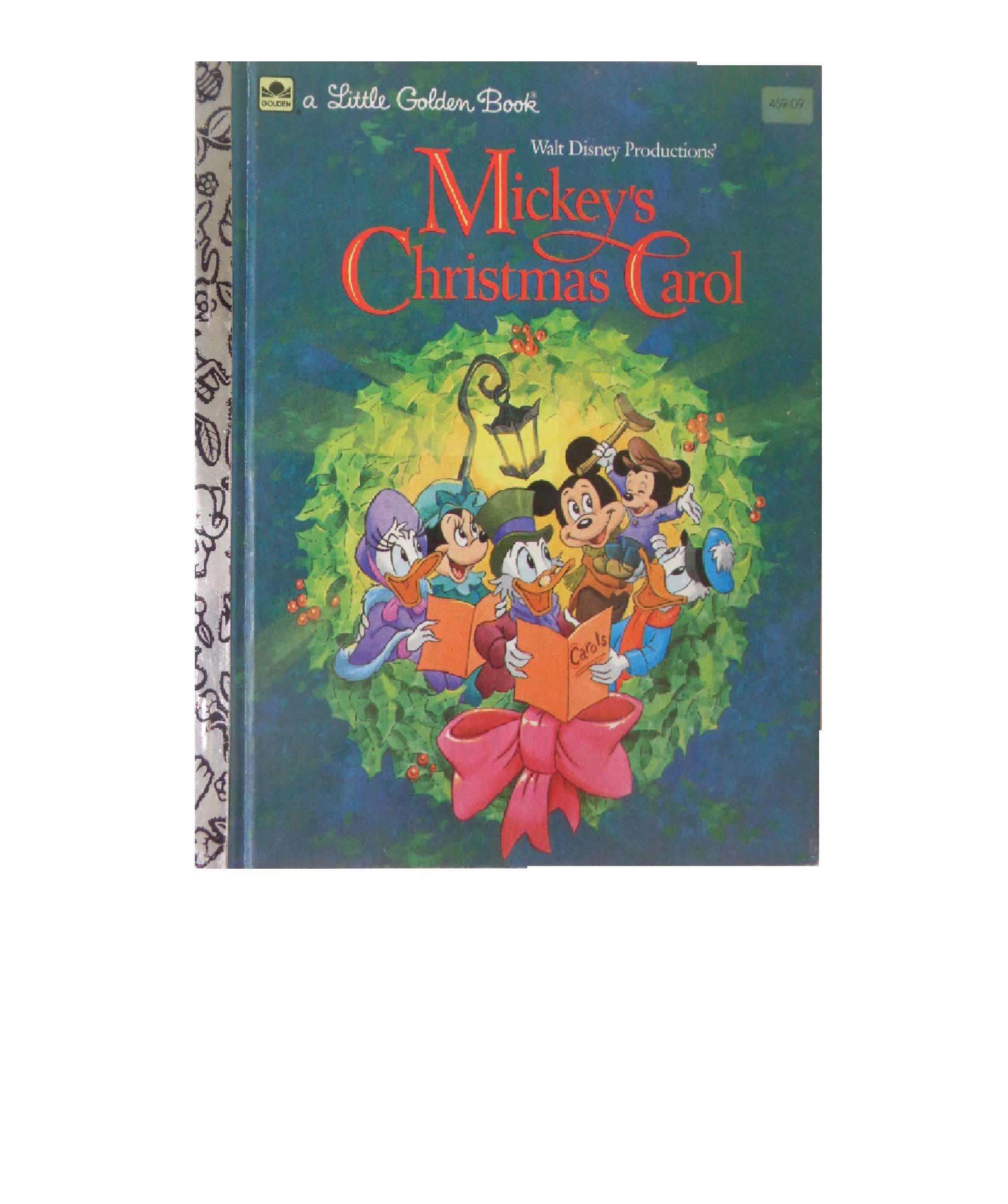 Mickeys Christmas Carol Book.Mickey S Christmas Carol A Little Golden Book 1983 Walt