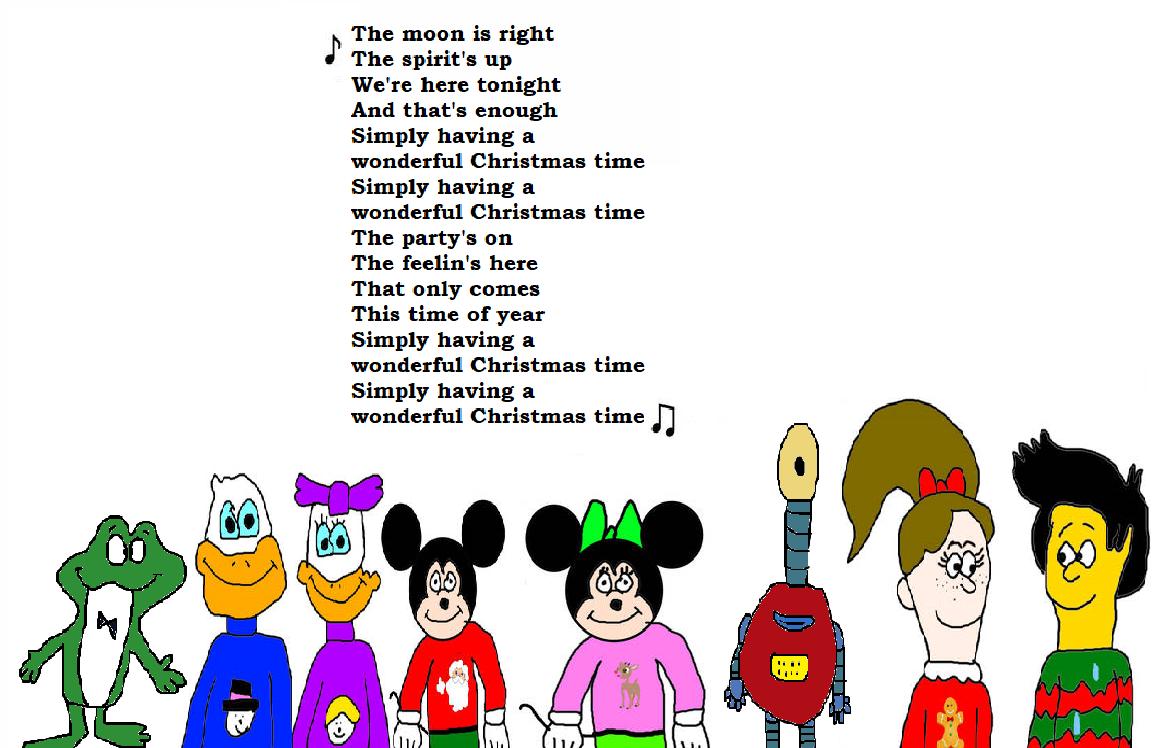 Simply Having A Wonderful Christmas Time.Sanjay Allie 2 30 Fred And More Sang Wonderful Christmas