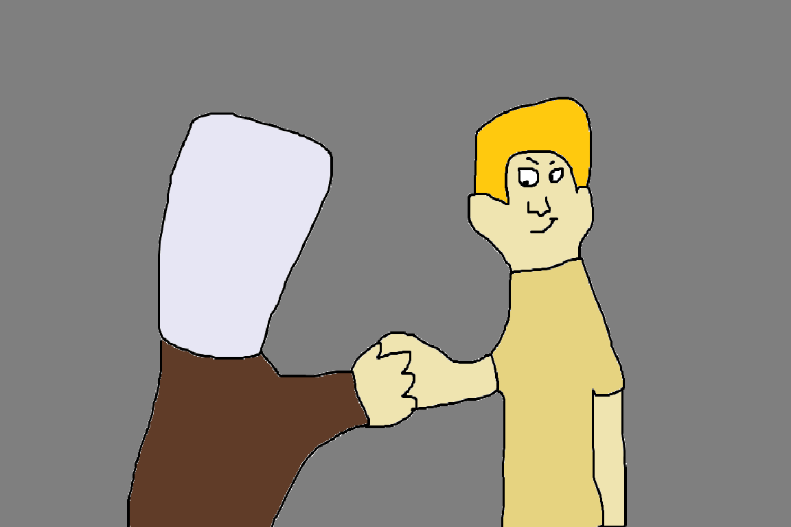 Mok Swagger and Nicholas Cherrywood are shaking hands