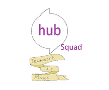 Hub Squad Teamwork Is Magic logo