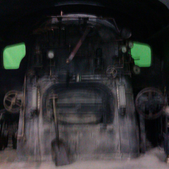 the cabview of the locomotive (this is how the cab looks like in the movie)