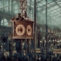 <center>The station's big clock</center>