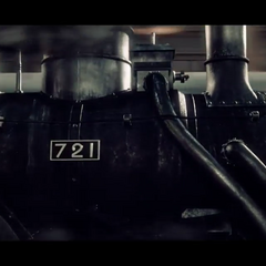 the locomotive's boiler and number plate