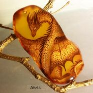 Golden dragon pendant by alviaalcedo-dbora6z