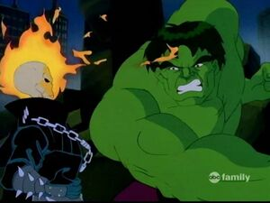 Ghost Rider Hulk fight